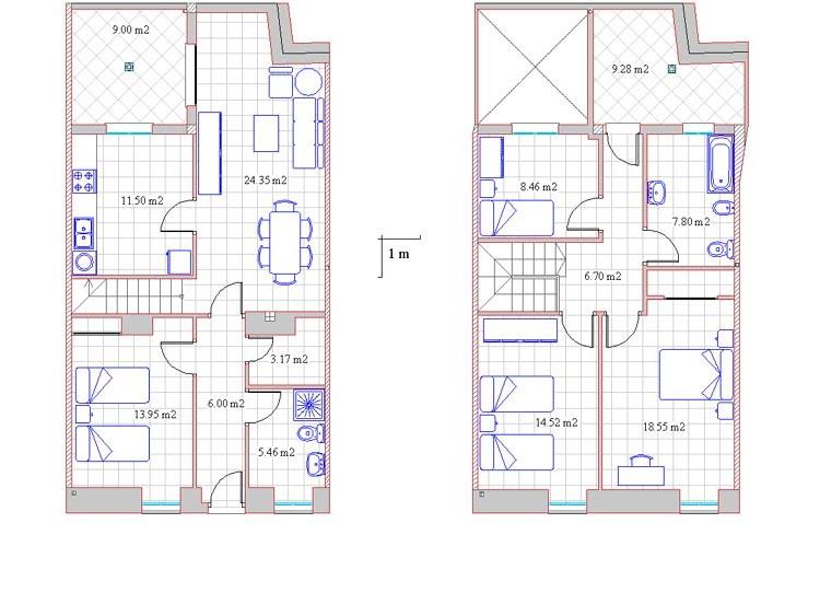 vivienda unifamiliar plano: